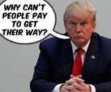"""Donald Trump: """"Why can't people pay to get their way?"""", org. image © Reuters"""