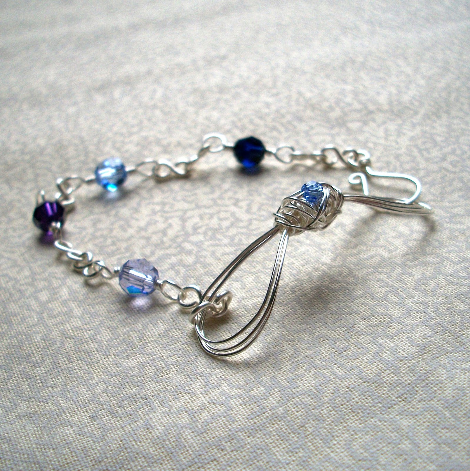 Blue Swarvoski Crystal Bow Bracelet - Best Sellers
