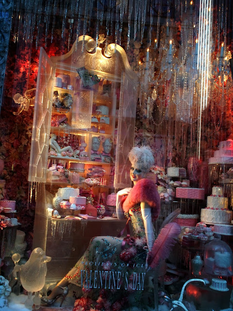 Cupid Draw back Your Bow, Valentine's Day window, #BGwindows #holidaysonice NYC