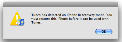 iTunes Detects iPhone In Recovery Mode