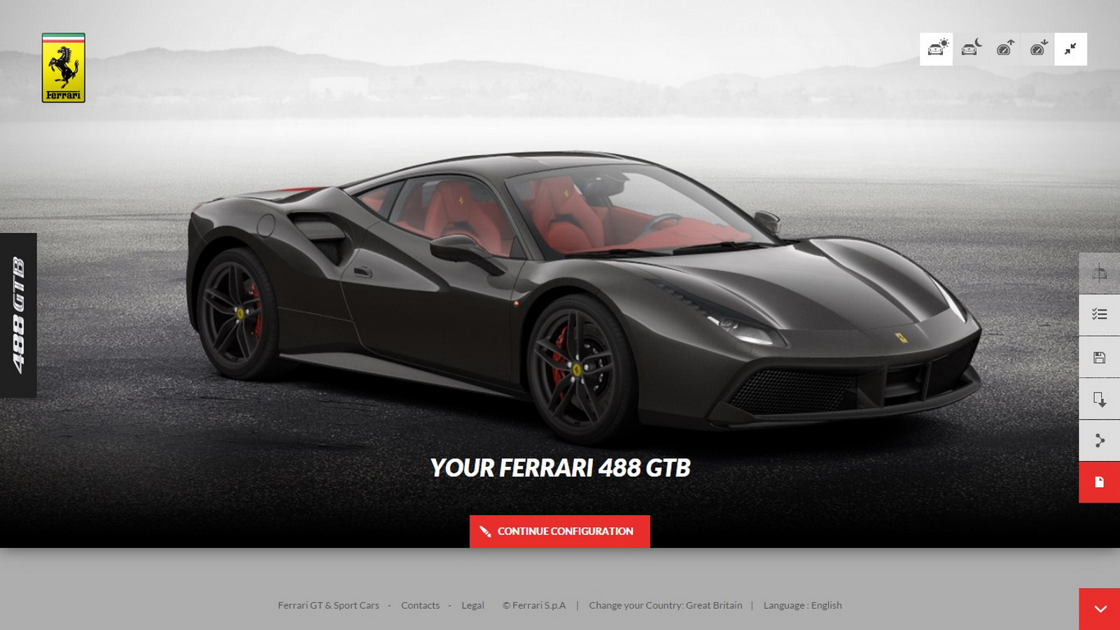 You Can Now Build Your Own 488gtb On Ferrari S Configurator Carscoops