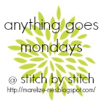 Monday's Linky Party--Stitch By Stitch
