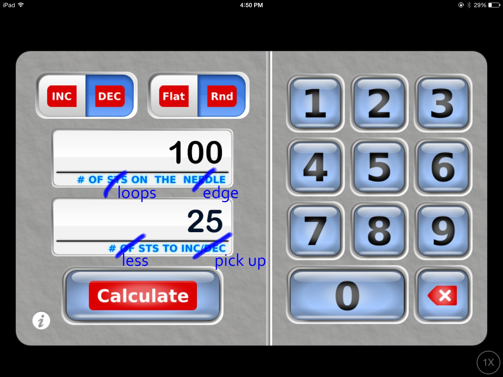 Knitting Calculator App : My favorite knitting app and a trick for picking up