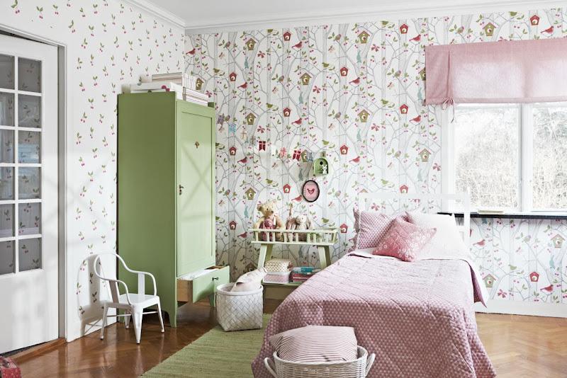 Mitt gr na lilla rum lilleby busiga tapeter fr n bor stapeter - Wallpapers voor kamer ...