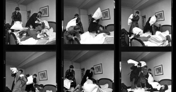 Shooting Film Harry Benson The Beatles Pillow Fight