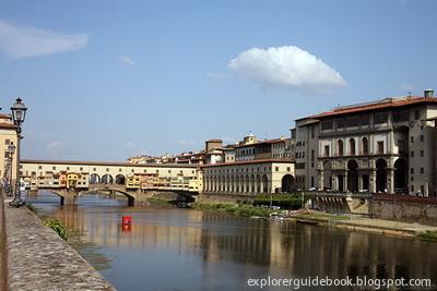 Ponte Vecchio, vasari corridor, and uffizi
