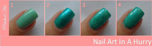 Nail-Art-In-A-Hurry-5-Cling-Film-saran-wrap-step-by-step-tutorial