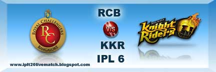 RCB vs KKR Live Scorecards and Highlight Video