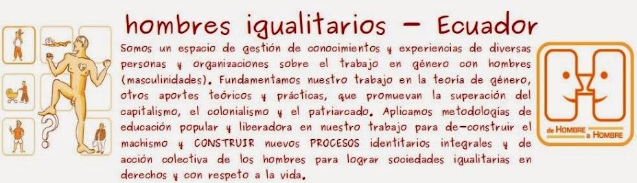 hombres igualitarios Ecuador
