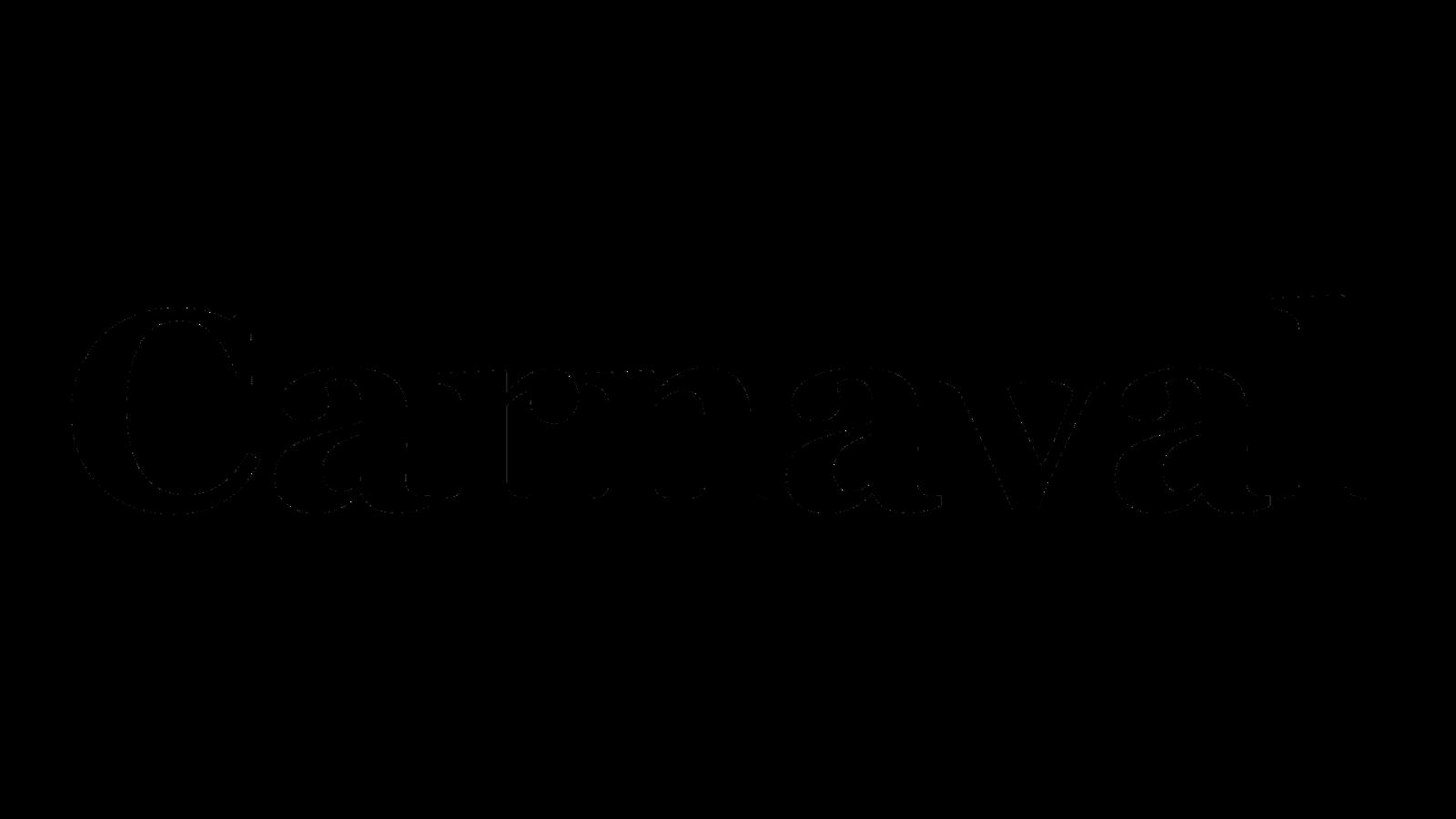 Mascara titulo Carnaval com letras transparentes e fundo peto png