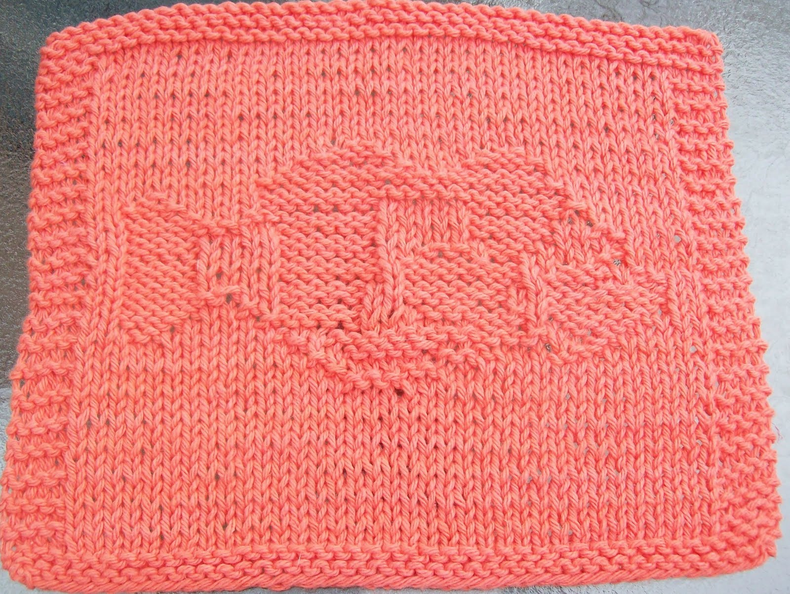 DigKnitty Designs: Clown Fish Knit Dishcloth Pattern