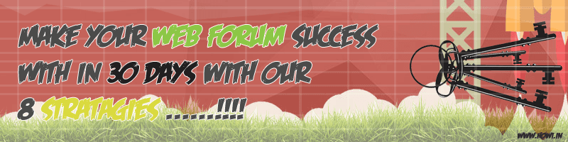 Make Web Forum Sucess