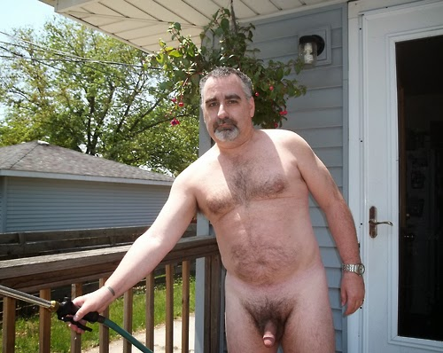 sexy dad - naked dad - hairy chest