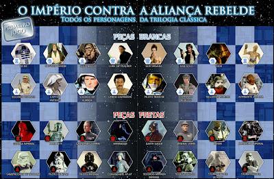 Peças de Xadrez Star Wars