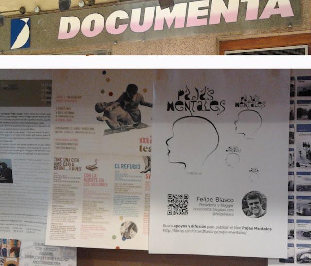 Póster del libro Pajas Mentales en Librería Documenta