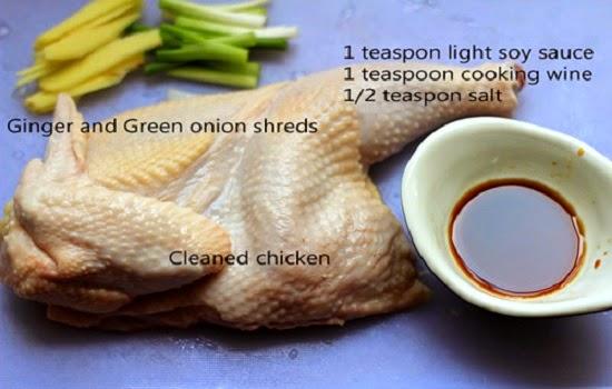 Công thức làm món gà hấp kiểu tàu