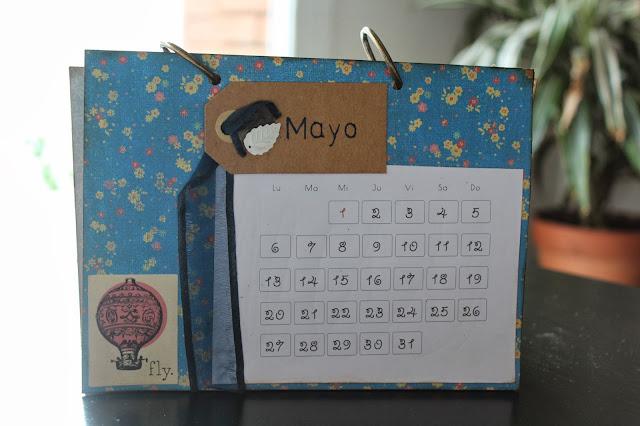Calendario scrapbooking mayo