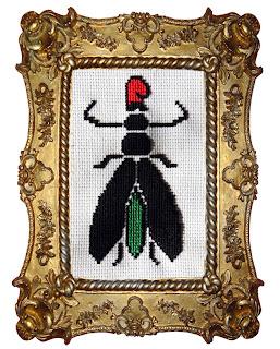 punto cruz mosca bigotes dali barretina