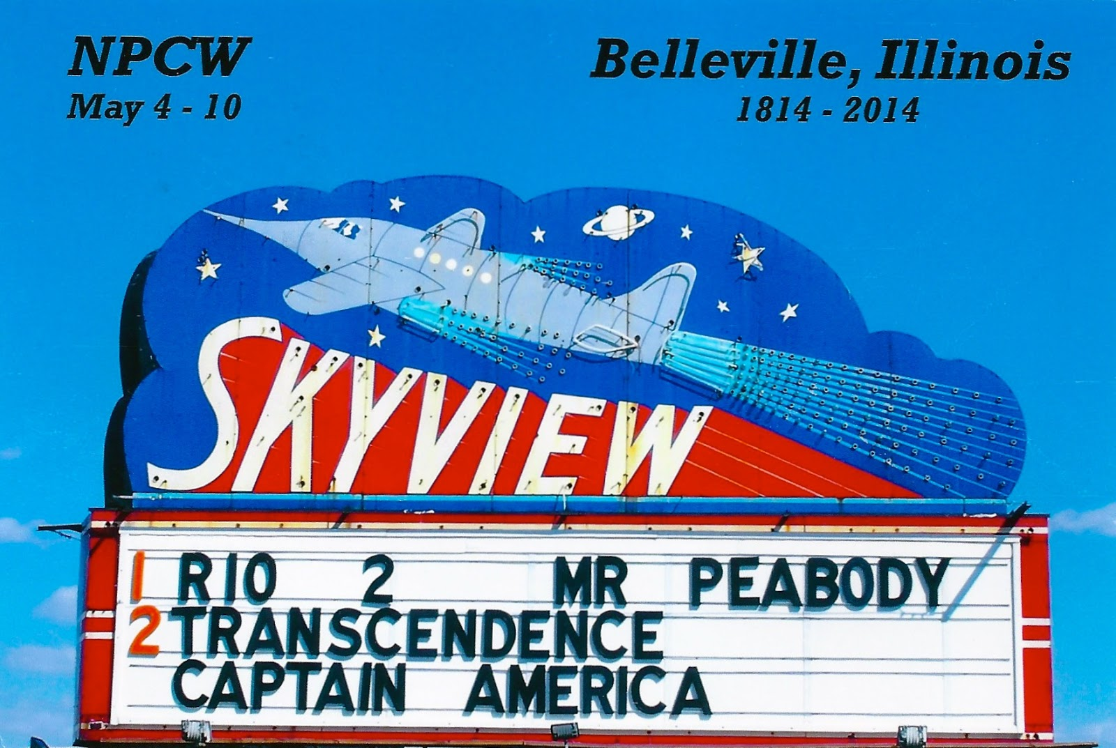 My favorite postcards skyview drive in movie theatre in for Drive in movie theaters still open