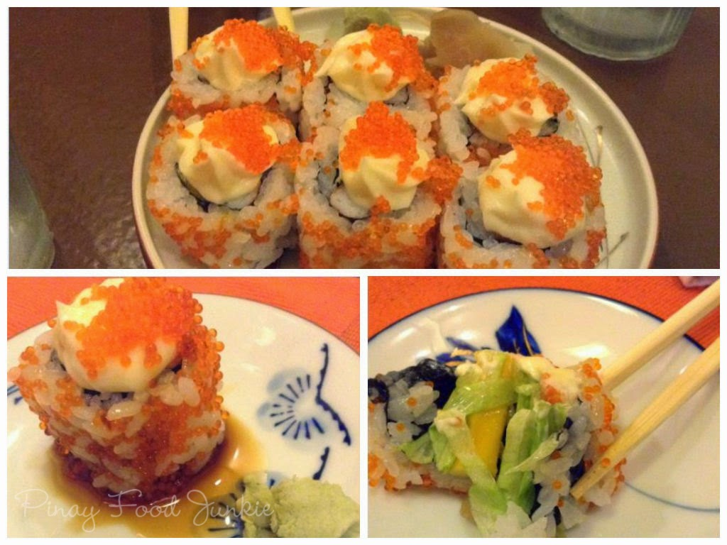 Eating california maki in Nodasho