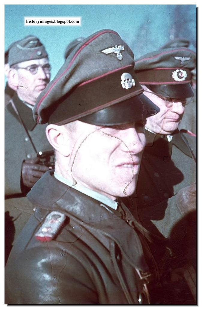 officer from the Waffen SS  Waffen Ss Officer Color