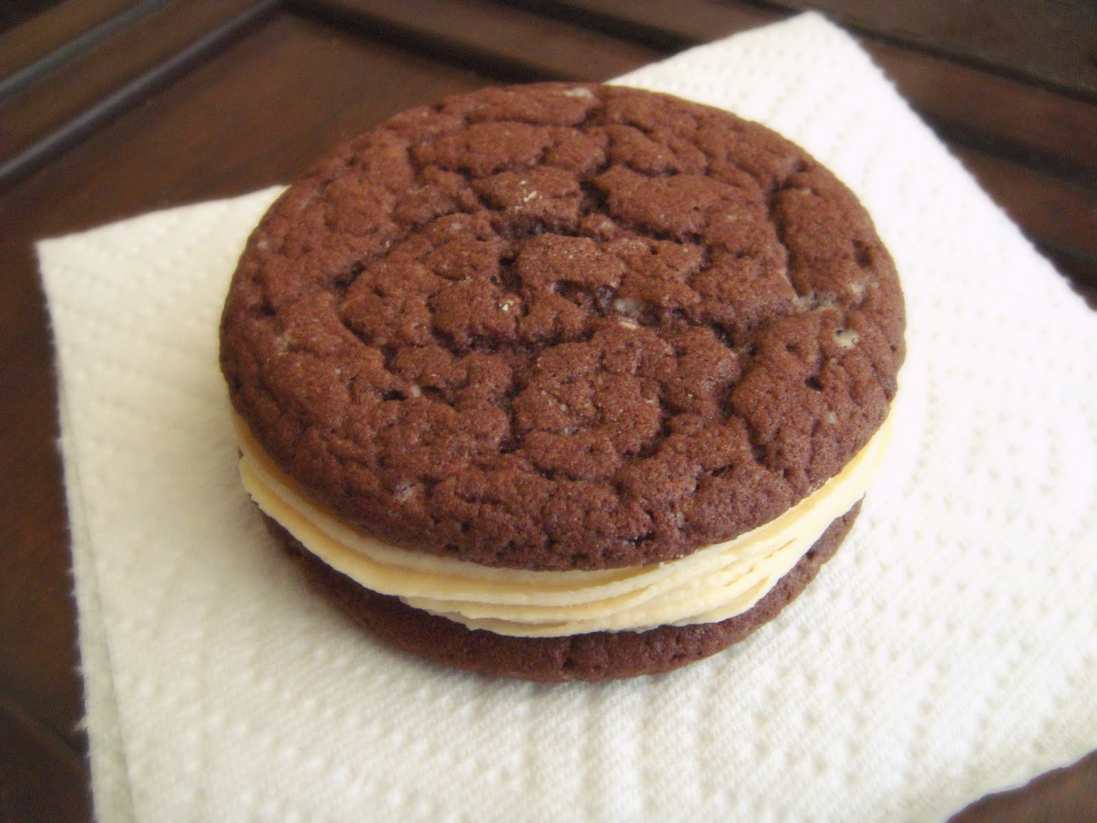 Chocolate and PB Sandwich Cookies - Baked by Joanna