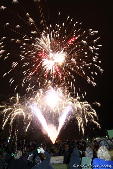 Fireworks at Fiesta of Lights, Hawke's Bay Showgrounds, Hastings, on New Year's Eve. photograph