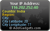 AddGadgets IP Address Widget
