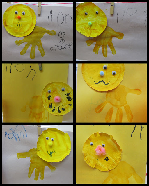 photo of: handprint zoo animal craft project, paper plate crafts for zoo theme, preschool art project