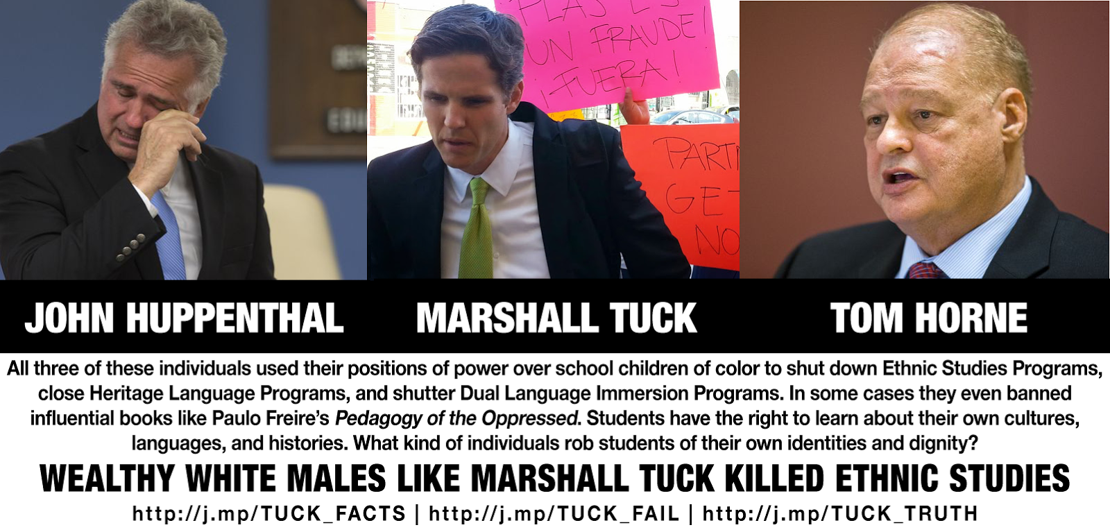 There should be no space in education for bigots like Marshall Tuck, Tom Horne, and John Huppenthal