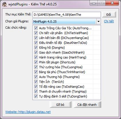 Plugin Dã tẩu Kiếm Thế - wjxtdPlugins Tool