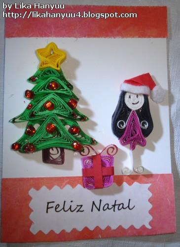 Aparador Antiguo Sevilla ~ Lika Hanyuu uff0d Artesanato Quilling [Quilling] Cart u00e3o comÁrvore de Natal e Menina