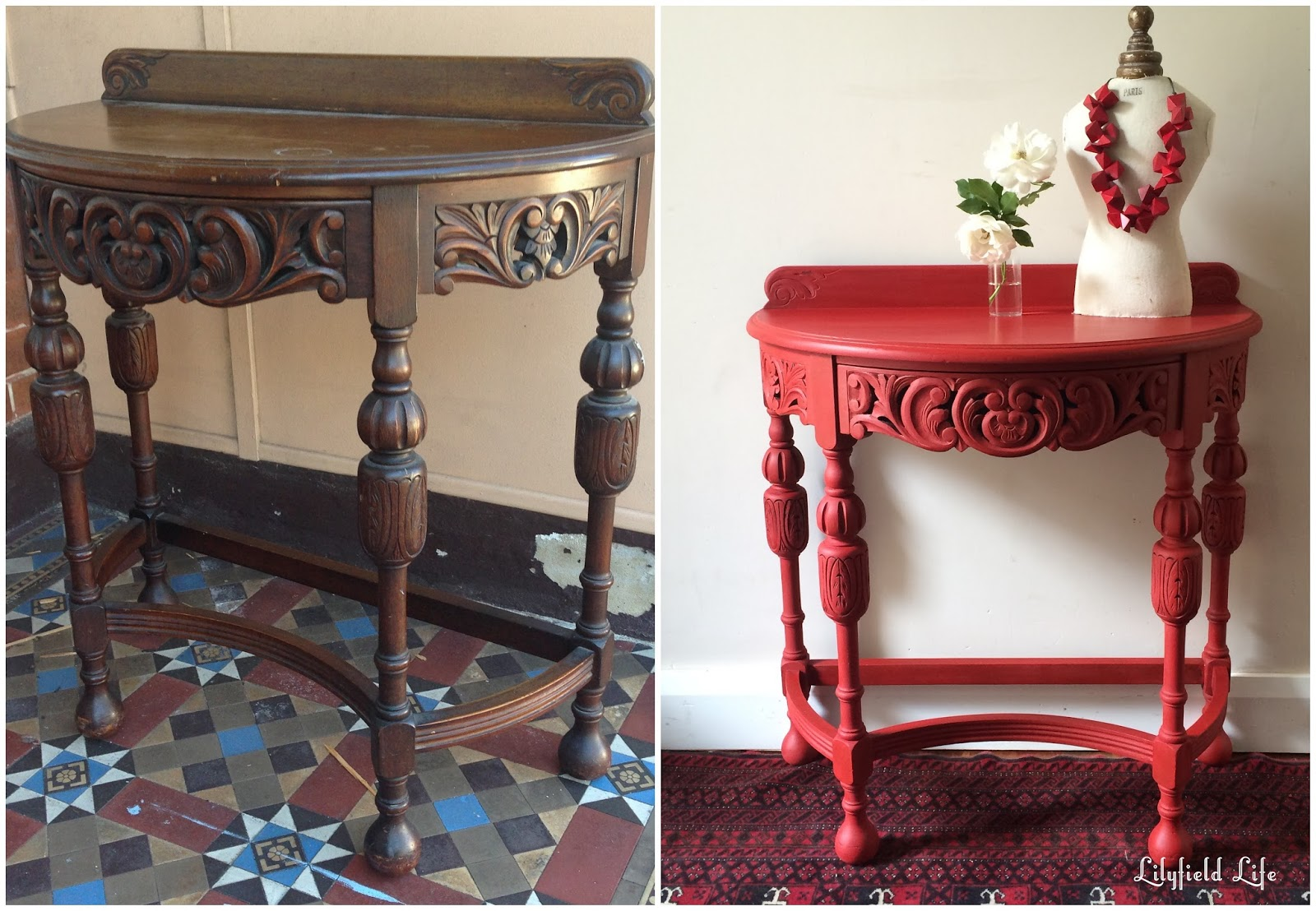 interesting 10 red hallway table design decoration of wonde