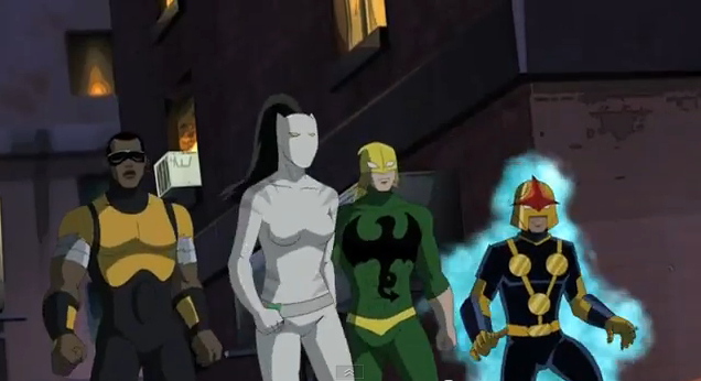 Ultimate Spider-Man Animated Series 2012 Ultimate SpiderMan teams up with Nova, White Tiger, Iron Fist, and Power Man