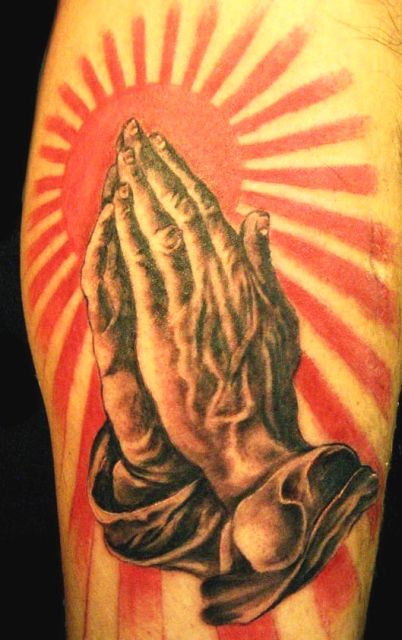praying hands tattoo. quot;Praying Handsquot; 3D Tattoos