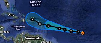 Karibik und US-Ostküste: MARIA kommt - möglicherweise als Hurrikan, Maria, Atlantik, Karibik, Dominikanische Republik, Verlauf, Vorhersage Forecast Prognose, September, 2011, Hurrikansaison 2011, aktuell,