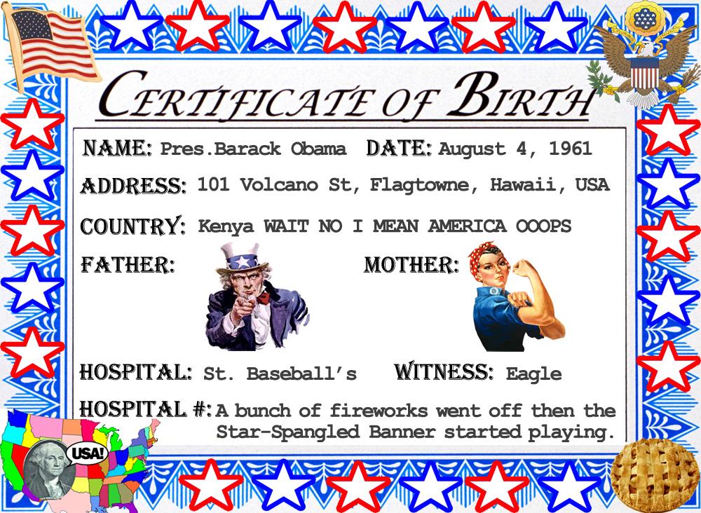 Stranger In A Strange Land Obamas Birth Certificate Obamas
