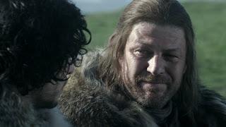 Jon nieve parte hacia el muro para vestir el negro