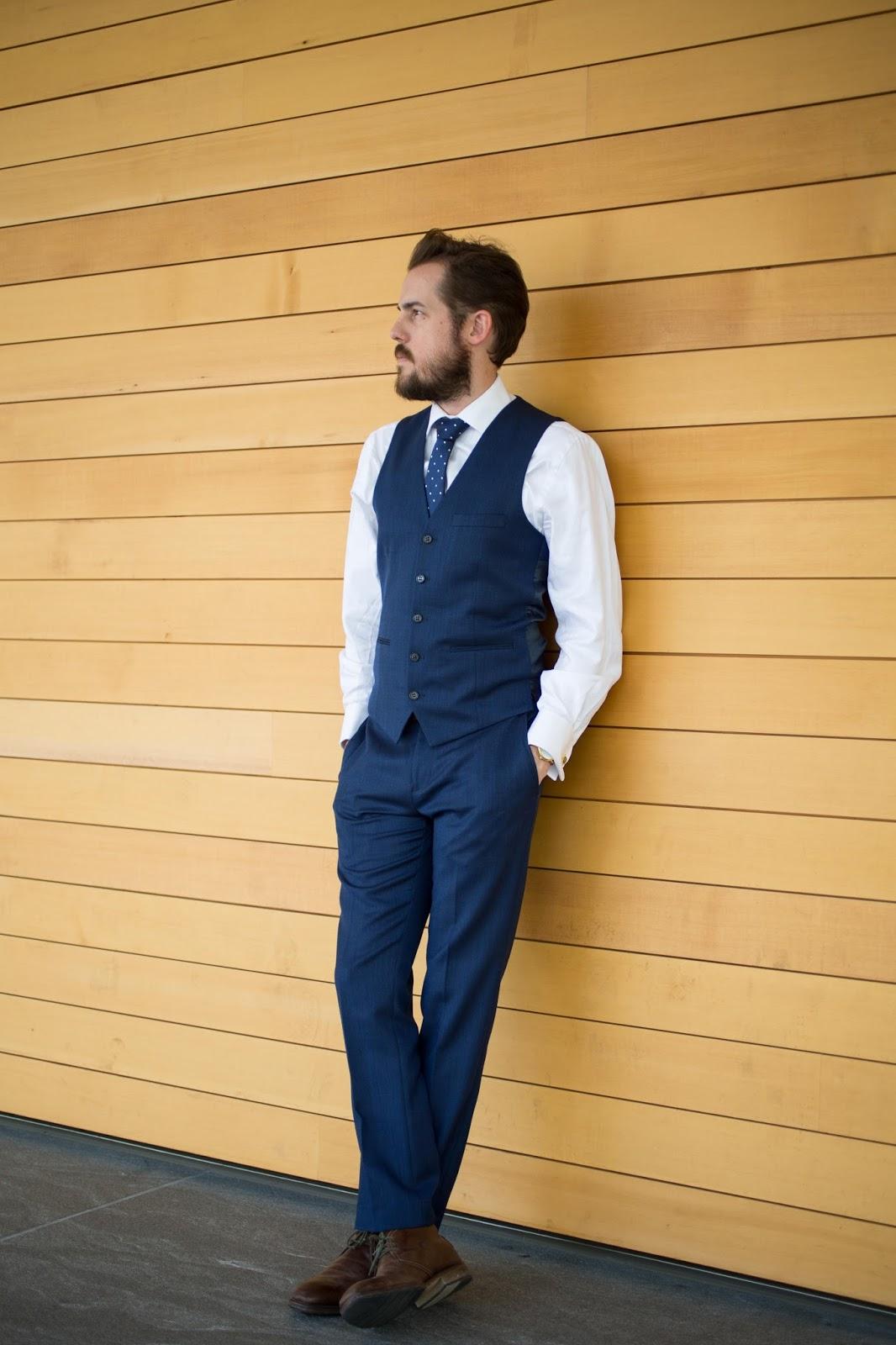 Navy Slim Fit Topman Suit