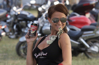 biker babe enjoys the biker event