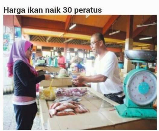 Harga Ikan Naik Sehingga 30 Peratus Di Pulau Pinang
