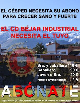 cartel campaña de captación de socios del Bejar Industrial
