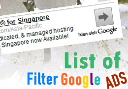 filter google adsense