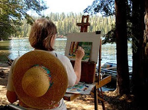 Painting at Pinecrest Lake