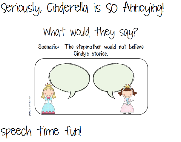 Seriously Cinderella is SO Annoying Companion Pack – Cinderella Worksheets