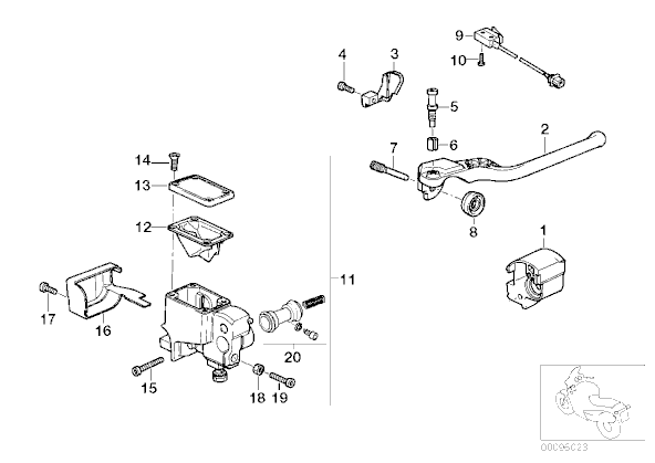 Harley Master Cylinder Diagram on 1981 Honda Motorcycle Parts Diagram