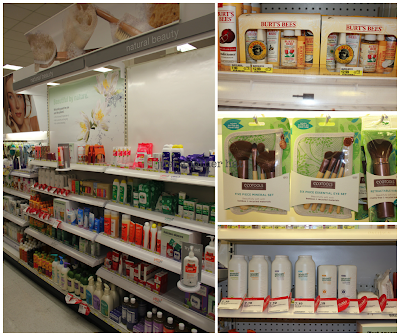 Target natural beauty aisle