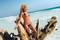 Sylvie van der Vaart hot in a two piece swimsuit