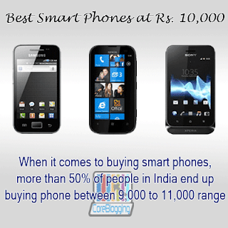Best Smart Phones Around Rs. 10,000