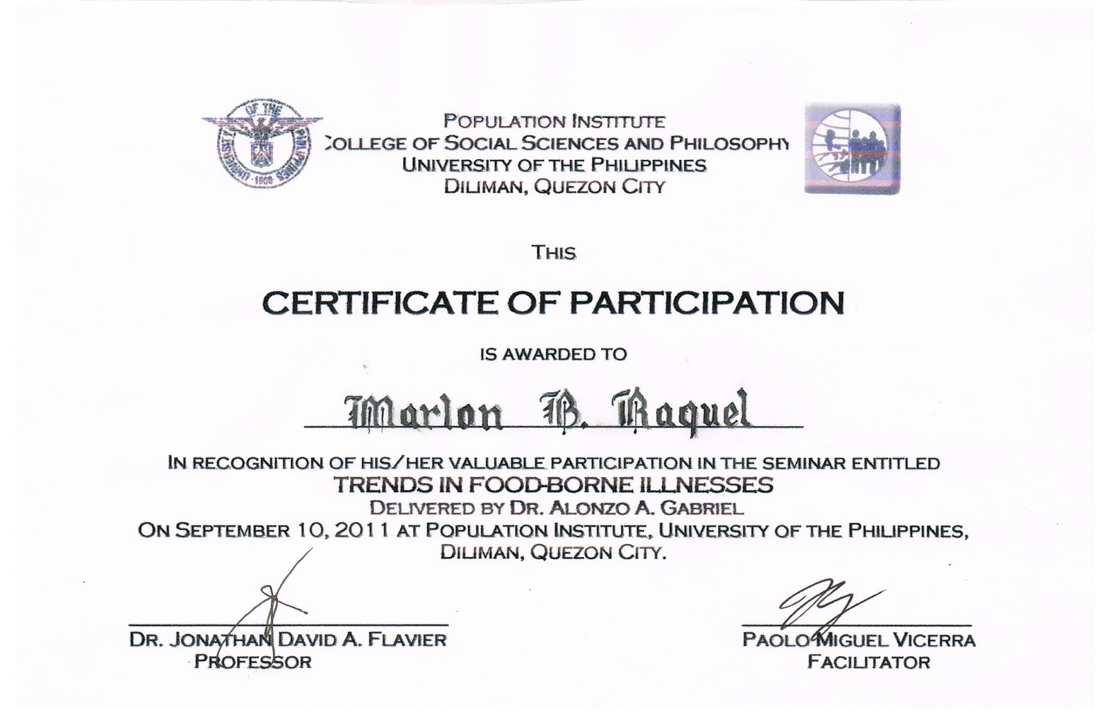 Example Of Certificate Of Appreciation Guest Speaker | Party ...